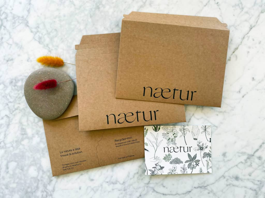 packaging éco responsable de Naetur