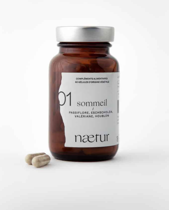 Complément alimentaire sommeil bio 01 (Naetur), pour mieux dormir, vegan : passiflore, eschscholzia, valériane et houblon