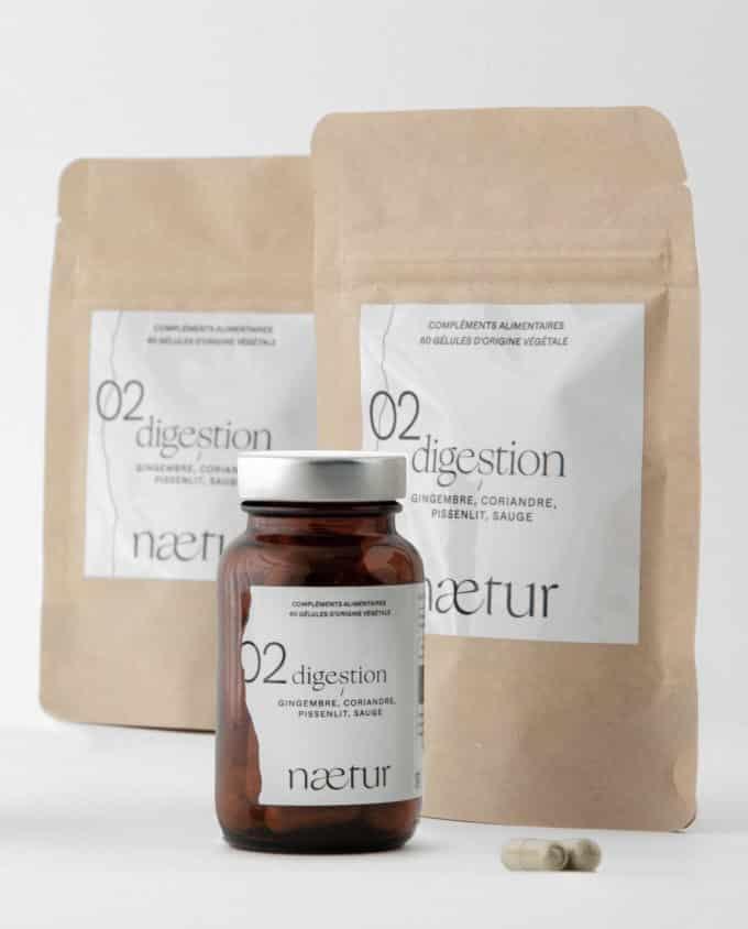 Compléments alimentaires digestion 02 (Naetur), une cure de trois mois pour mieux digérer